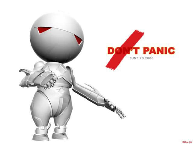Robot : don't panic Marvin is here